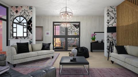 Pink Black - Modern - Living room - by ilikalle