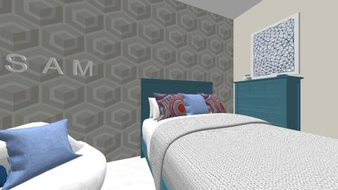 Blue Geometric - Eclectic - Kids room  - by EllaRyd