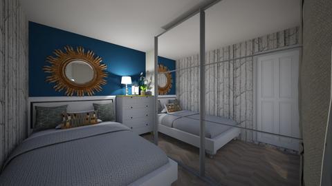 salon i sypialnia - Bedroom  - by seensimillaaa