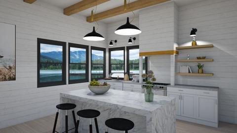 Modern Farmhouse kitchen - Modern - Kitchen  - by SunflowerStudios