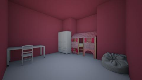 pink and white kids room - Kids room  - by ssaorcacor