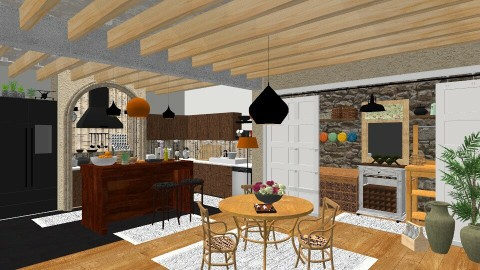 Farmhouse - Dining room  - by DMLights-user-997247