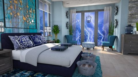 storm day bedroom - Bedroom  - by Moonpearl