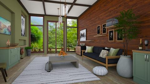 Wooden Julius - Rustic - Living room  - by vxckzz