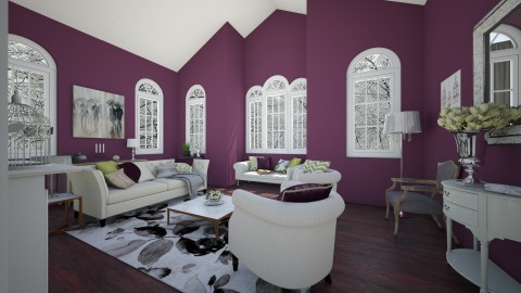 Chic Aubergine - Glamour - Living room  - by maddys