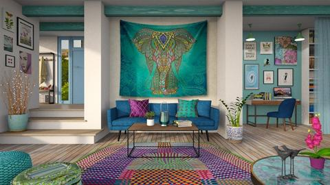 Boho Living - Living room - by LB1981