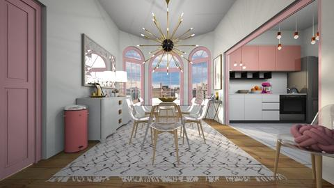 Dining room Pink - Feminine - Dining room - by Sally Anne Design