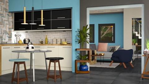 Colored Variation - Modern - Kitchen  - by Gurns