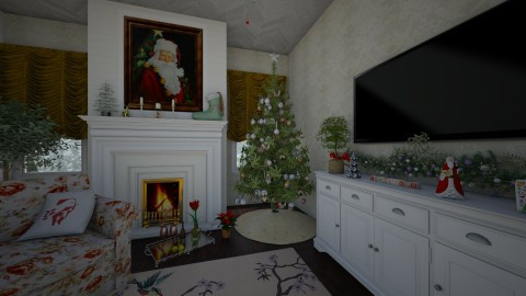 Old Southern Christmas - Rustic - Living room  - by PippyLStocking