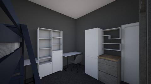 One Window Dorm Room - Modern - Bedroom  - by lentyaeev