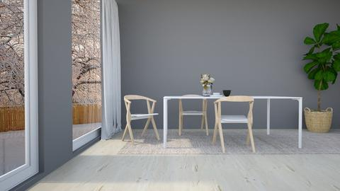 Grey Brown Dining - Minimal - Dining room - by fatihafitra