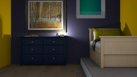 For t a e  - Modern - Bedroom  - by designkitty31