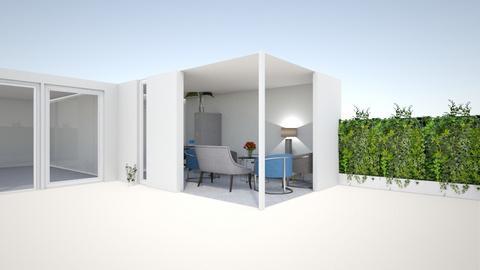 Uitbouw garage glazendeur - by Sandra Kossen