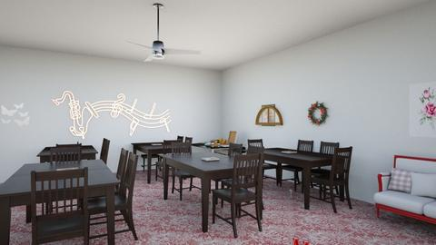 restaurant red part 2 - Dining room  - by Salvadorena1