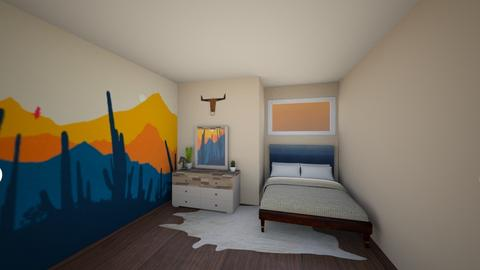 Desert Room  - Rustic - Bedroom  - by Megan Eng