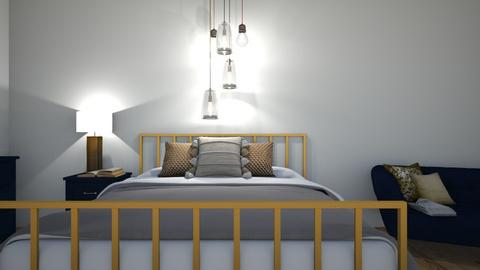 gold and navy - Bedroom  - by LB11