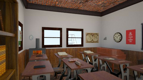 School Room7 - Retro - by jcflynn