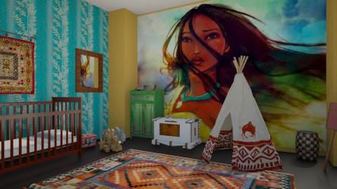pocahontas nursery - Rustic - Bedroom  - by dwoods