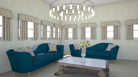 Teal and Beige Reno - Modern - Living room  - by Maria Rachel