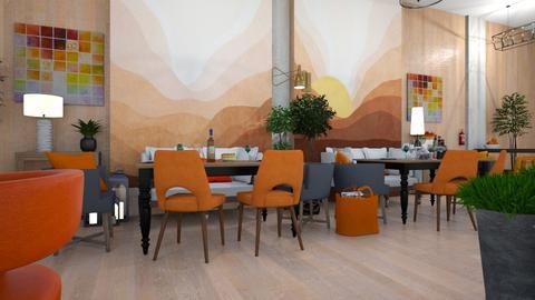 Orange  White Restaurant - by matina1976