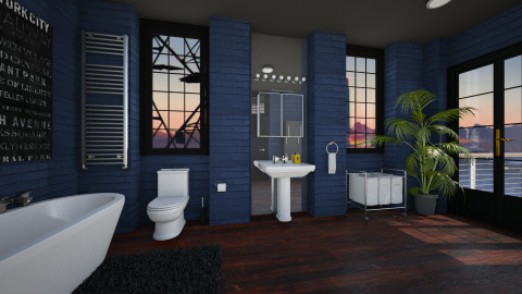 The Blue Loo - Modern - Bathroom  - by evahassing
