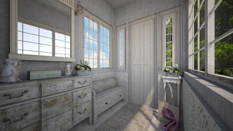 shabby chicque hallway - by daydreamer84