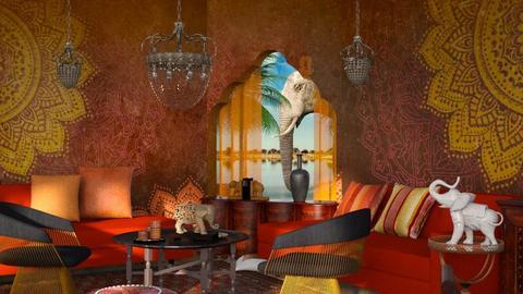 The land of elephants - Living room  - by ZsuzsannaCs