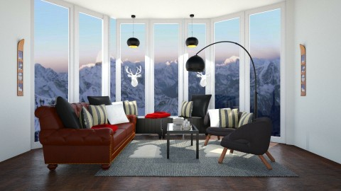 Ski Day - Classic - Living room - by artist4568