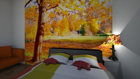 Autumn Room - Bedroom  - by Marzbar3