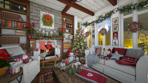 Happy Holidays - Rustic - Living room  - by maja97