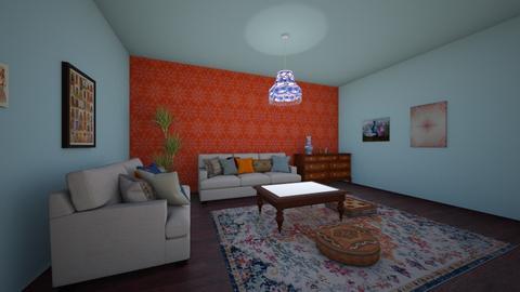 orange blue - Living room - by Katarina1999
