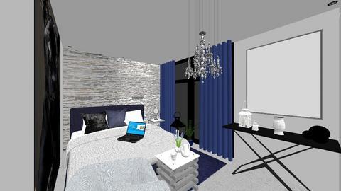 Granatowy Salon - Living room  - by DERRYS