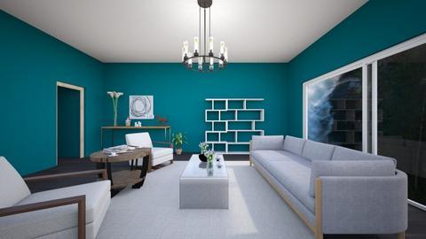 aquamarine mountain - Living room  - by sleepy joe