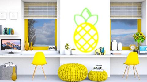 Neon Pineapple_Yellow WS - Office  - by KittyKat28