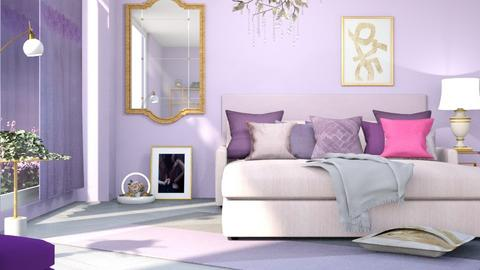 M_ Pink and purple - Bedroom  - by milyca8
