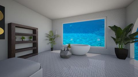 bedroom with pool veiw - Bedroom  - by tessmcquillan
