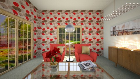 Sel - Retro - Living room  - by Saj Trinaest