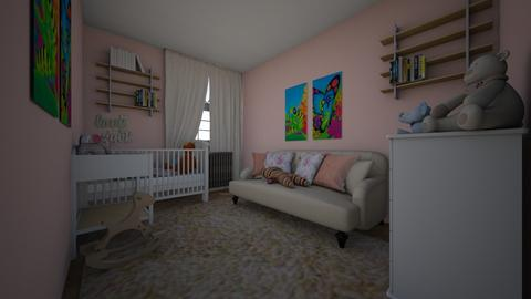 baby room pink solid - Modern - Kids room  - by Agnessita