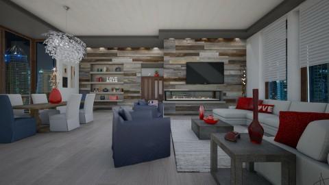 Cozy Condo - Rustic - Dining room  - by Lackew
