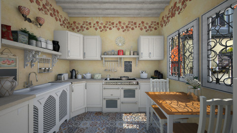 Small kitchen - Kitchen  - by Lizzy0715