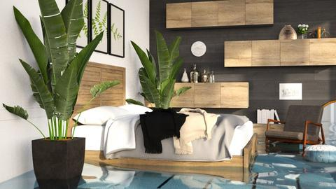 FLOODED Jungle Modern - Bedroom  - by itsbinflooded