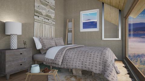 attic bedroom - Bedroom  - by rubyg3201