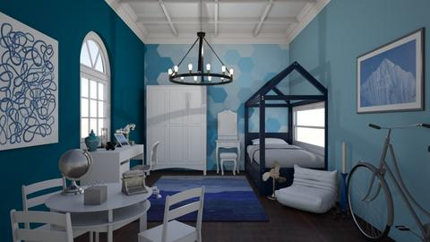 Kids Blue Bedroom - Modern - Bedroom  - by laurenpoisner