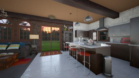kitchen nook - by kittkatt1021