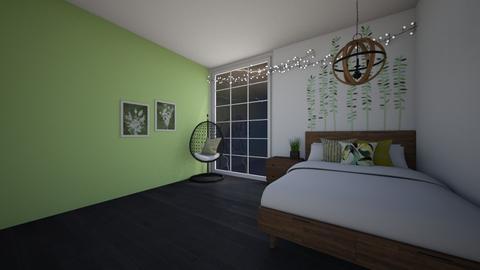 a green thunder - Bedroom  - by owldesigner