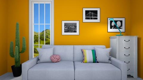 Yellow Room - Eclectic - Living room  - by deleted_1609868595_bleeding star