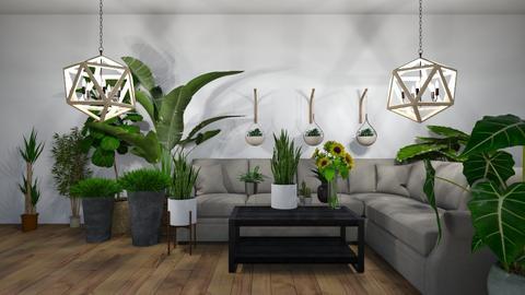 Plant Person Home - Living room  - by da crazy_girl