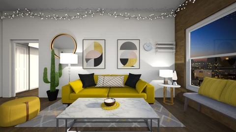 Mustard Apartment - Living room  - by matullosr