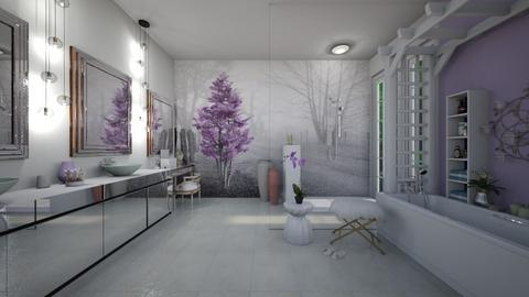 Lavender Bathroom - Bathroom  - by ElleP