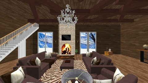 Winter Cabin - Country - Living room  - by deleted_1506278320_Naomi Soden